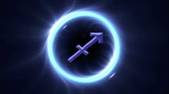 Zodiac signs Sagittarius Stock Footage