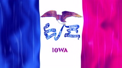 Iowa State Flag Animation Stock Footage