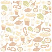 delicious food - stock illustration