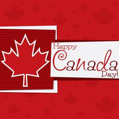 Funky Canada Day card in vector format. - stock illustration