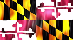 Maryland State Flag Animation Stock Footage