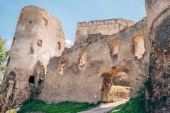 Main Gate in Lietava Castle, Slovakia Stock Photos