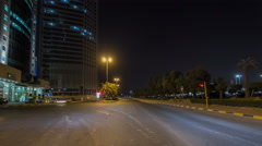 Drive through the traffic in the city highway timelapse hyperlapse in Kuwait Stock Footage