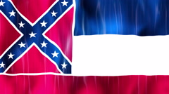 Mississippi State Flag Animation Stock Footage