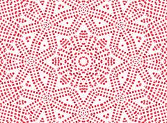 Red concentric pattern - stock illustration