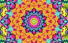 Bright multi-colored untidy pattern Stock Illustration