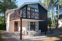 New Wooden House for sale or renting - stock photo