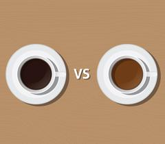 coffee vs versus tea compare health and benefit vector - stock illustration