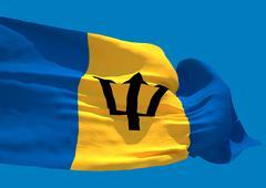 Barbados wave flag HD Stock Illustration