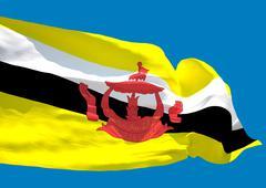 Brunei wave flag HD Stock Illustration