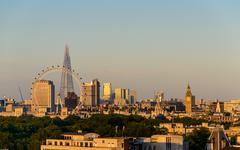 London at sunset Stock Photos