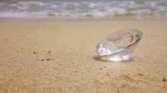 Crystal at the beach Stock Footage