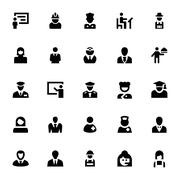 Professional Vector Icons - stock illustration