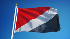 Sealand flag in slow motion seamlessly looped with alpha Stock Footage