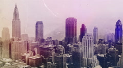 New York City under smog when weather conditions prevented smoke. - stock footage