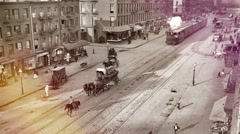 Jewish market on the East Side, New York City. Stock Footage