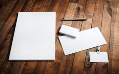 Blank stationery - stock photo
