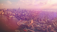 Central Park aerial view Manhattan New York. Arkistovideo