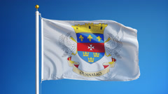 Saint Barthelemy flag in slow motion seamlessly looped with alpha - stock footage