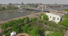 Aerial View of Activities in Public Park Stock Footage