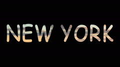 New york city homes substantive letters Stock Footage