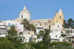 Town of Stromboli, Stromboli, Aeolian Islands, UNESCO World Heritage Site, - stock photo