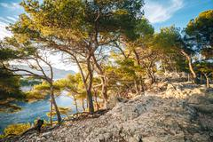 Hiking Trails Among Calanques On The French Riviera. Calanques - Stock Photos