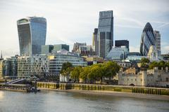 City of London skyline, London, England, United Kingdom, Europe - stock photo