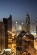 Dawn skyline, Dubai, United Arab Emirates, Middle East Kuvituskuvat