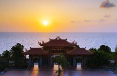 Thien Vien Truc Lam Ho temple, Phu Quoc Island, Vietnam, Indochina, Southeast - stock photo