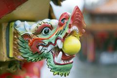 Detail, Chinese temple, Jiufen, Taiwan, Asia - stock photo