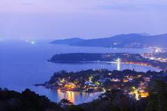 South East Asia, Thailand, Phuket, Kata beach view point Stock Photos