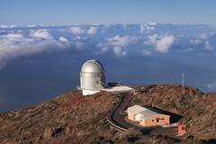 Observatory Gran Telescopio Canarias, Roque de los Muchachos, Parque Nacional de Stock Photos