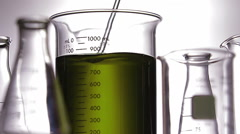 Chemical liquid test Stock Footage