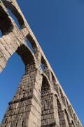 Segovia's ancient Roman Aqueduct, UNESCO World Heritage Site, Segovia, Castilla Stock Photos