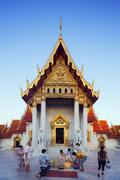 South East Asia, Thailand, Bangkok, The Marble Temple, Wat Benchamabophit Stock Photos