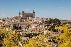 The Alcazar towering above the rooftops of Toledo, UNESCO World Heritage Site, Stock Photos