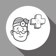 Medical care design. health care icon. sketch illustration - stock illustration