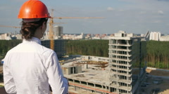 Architect looking on development project Stock Footage