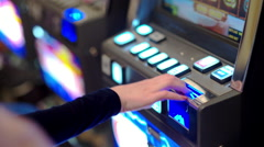 Slot machine casino. Financial risk taking. - stock footage