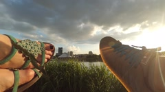 Legs sunshine timelapse Stock Footage