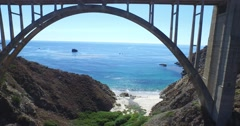 Bixby Bridge Elevator Stock Footage