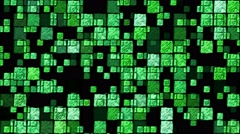Abstract Sketchy Glowing Squares Background - Loop Green Stock Footage
