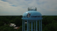 Crawford GA water tower fly around Stock Footage