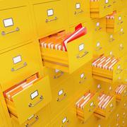 File cabinet 3D rendering - stock illustration