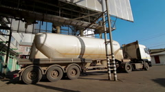 Corn loading to Truck production feed plant - stock footage