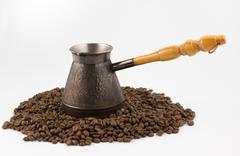 Turk for coffee - stock photo