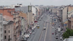 Saint-Petersburg, Russia, 29 may, 2016, Cityscape panorama of old central city Stock Footage