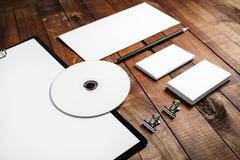 Photo of blank stationery - stock photo
