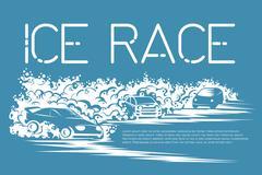 Ice race card Stock Illustration